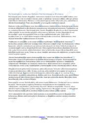 Hyttysenpiston vaikutukset ihmisessä | Essee | Arvosana 9