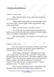 Rakkauskirjallisuus  Essee  Arvosana 7