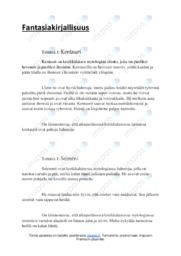 Fantasiakirjallisuus | Essee |Arvosana 8