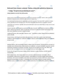 Referaatti uutisesta | Referaatti | Arvosana 8