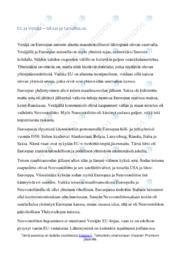 EU ja Venäjä | talous ja turvallisuus |Essee | Arvosana 7