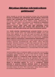 Erilaiset ajatustavat | Essee | Arvosana 9