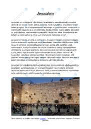 Jerusalem |Essee |Arvosana 9