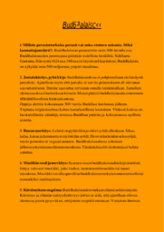 Buddhalaisuus Esitelmä  Arvosana 10