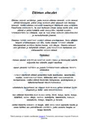 Eläinten oikeudet |Esitelmät |Arvosana 10