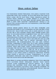 Matkakertomus 'Kungfutselaisuus'  Essee  Arvosana 10