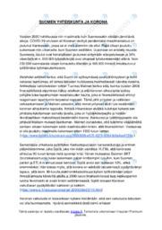 Suomen yhteiskunta ja korona | Essee | Arvosana 9