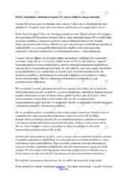 EUn vaikutukset elämääni | Essee | Arvosana 10