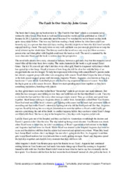 The Fault In Our Stars   Book review   Arvosana 9